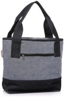 Home Heart Carry All Hand-held Bag (Grey, Black)