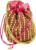 Mpkart Bhopali Golden Pouch Potli Pink