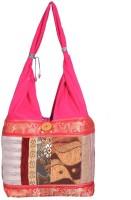 Domestiq Zipper Style Patch Work Jhola Shoulder Bag (Pink)