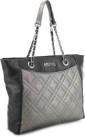 Kenneth Cole Reaction Diamonte Tote Hand-held Bag (Metallic And Black)