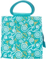 Jute Cottage All Over New Print Hand-held Bag (Blue)