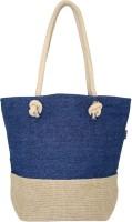 Yolo Shoulder Bag Natural & Light Blue Denim