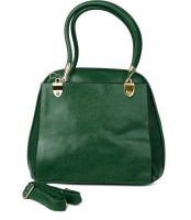 Just Women Faux Leather Tote Messenger Bag (Green)