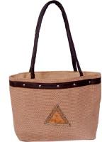 Womaniya Handicraft Jute Shoulder Bag (Brown)