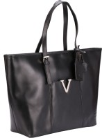Valentino Valentino Genuine Leather Black Color Medium Size Womens Hand Bag Tote Black