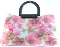 Balooni Beautiful Floral Print Hand-Held Bag White Pink