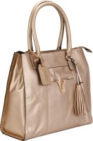 Valentino Valentino Genuine Leather Gold Color Medium Size Womens Hand Bag Shoulder Bag Gold