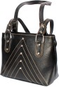 StonKraft Designer Genuine Leather Shoulder Bag - Black - HMBDRWH495SANHPM