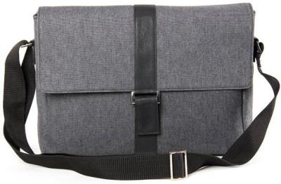 Canvas Walletsnbags Canvas Portfolio Shoulder Bag (Black)