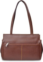 Arshia Smart With Front And Back Zip Shoulder Bag (Brown)