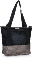 Home Heart H H Tote Hand-held Bag - Black, Silver