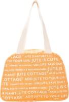 Jute Cottage Tape Handle Lunch Shoulder Bag (Kesari)