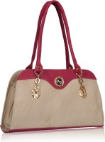 Fantosy Hand-held Bag Beige And Pink