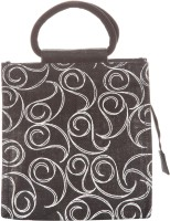 Jute Cottage 10 X 10 All Over Zipper Lunch Hand-held Bag (Black)