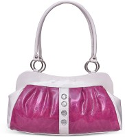 Arshia Formal With Stone Design Hand-held Bag Pink
