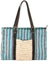 Fabulloso Stripe Hype Hand Bag - Blue