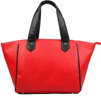 Bagsy Malone Color Blocked Hand-held Bag Red