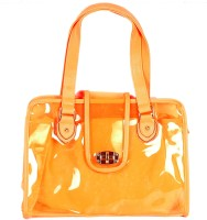 Watercolour Orange Transparent Bag Hand-held Bag - Orange-07