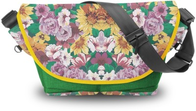 Atrangee Floral Ignition Messenger Bag Green, Yellow