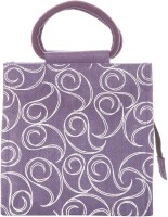 Jute Cottage 10 X 10 All Over Zipper Hand-held Bag (Purple)
