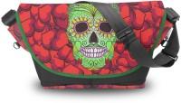 Atrangee Bling Bling Skull Messenger Bag (Red)