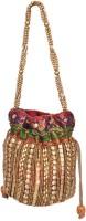 Domestiq Beads Sequins Pouch Potli (Multicolor)