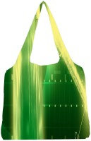 Snoogg Green Crystal In The Grid 2638 Jhola Tote Multicolour