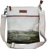 Oviyaan Design Women Casual Beige Jute Sling Bag