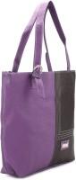 Murcia Hand-held Bag Purple And Coffee