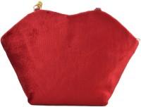 Freddys Velvet Style Stone Work Hand-held Bag - Maroon