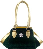 Aveo Aveo Green Unique Attractive Velvet Women Handbag Satchel Green
