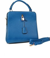 Just Women Faux Leather Hand Bag Messenger Bag (Blue)