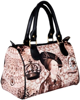 Beauty Beauty Secrets Lady With Clock & Crown Satchel (Multicolor)