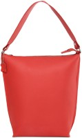 Fume Pure Leather Hand-held Bag - Red