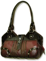 Kariba Trendy Dark Brown Hand-held Bag Black & Brown