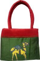 Indha Craft Camel Print Hand-held Bag (Green-05)