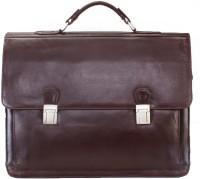 Brune Leather Messenger Bag - Brown