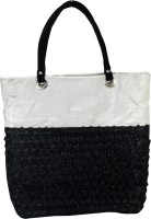 Arisha Kreation Co Smart Black Floral Embossed Design Shoulder Bag White, Black