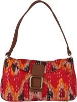 Rajrang Kantha Work Shoulder Bag - Red-02