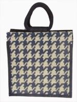 Jute Tree Jb247-Bricks Bag-Offwht-Nblu Hand-held Bag (Offwhite, Nblue)