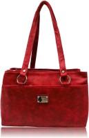 Leather Land Shoulder Bag Burgandy Red-8