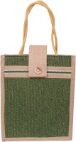 Womaniya Handicraft Ethnic Lunch Hand-held Bag Green