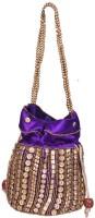 Domestiq Beads Sequins Pouch Potli (Purple)