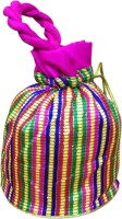 Sinjara Pouch Potli Multi Colored Brocket Potli Bag