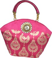 Freddys Ethnic Stone Work Hand-held Bag (Pink)