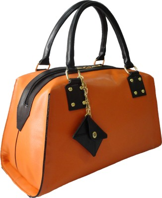 Toteteca Bag Works Edge Colored Bowler Hand Bag - Orange