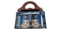 Fashion Jamun Wooden Handle Hand-held Bag (Grey)