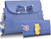 Butterflies Trendy Hand-held Bag - Blue, Blue