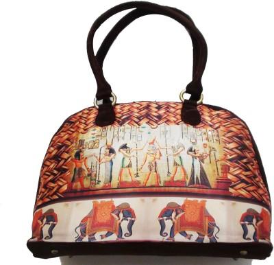 Fashion Fashion Jamun Big Satin Hand-Held Bag (Brown)
