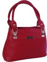 Womaniya Ethnic Silver Rose Collection-193 Hand-Held Bag Red